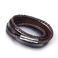 cute custom multi genuine leather strap strap bracelet