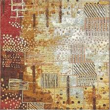 main image of rug 6x6 outdoor 6 x square multi squares modern area