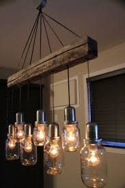 unusual lighting ideas. unique mason jar light chandelier pendant ceiling 7 jars vintage look 28000 via etsy unusual lighting ideas p