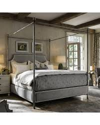 upholstered canopy bed. Brilliant Bed Universal Furniture Sojourn Respite Upholstered Canopy Bed And S