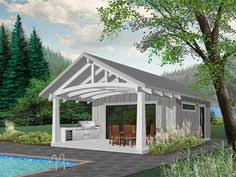 pool house plans ideas. 028P-0001: Cabana Or Pool House Plan With Outdoor Kitchen Plans Ideas