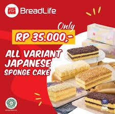 Promo Japanese Sponge Cake Cuma Rp 35000 Di Breadlife Bakery