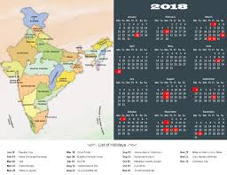 Year 2018 Calendar, Public Holidays In India In 2018