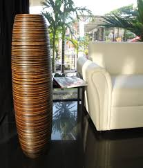 ... Perfect Finishing Large Floor Vase Nice Designing Interior Round Shape  Fabric Brown Colored Perfect Sofa ...