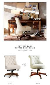 potterybarn Tufted Desk Chair $599 vs Amazon Linon Sinclair ...