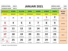 Puasa di bulan rajab boleh dilakukan pada hari apa saja. Kalender Nasional Tahun 2021 Lengkap Dengan Tanggalan Jawa Dan Islam Ujare