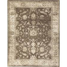 home decorators collection old treasures brown cream 8 ft x 10 ft area rug 25187 the home depot