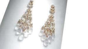 ava nadri cubic zirconia and crystal chandelier earrings in brass image 1 from the