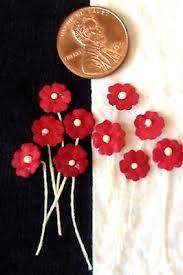 Paper Flower Hats 100 Red Handmade Mulberry Paper Flowers Crimson Dolls Hats