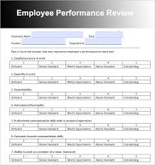 26 Employee Performance Review Templates Free Word Excel