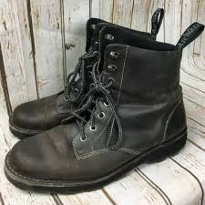 dr doc martens air wair niel brown distressed leather boots men s us 12 uk 11