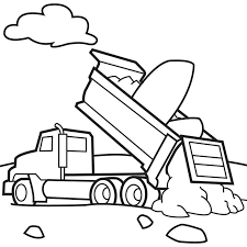 842x842 free printable dump truck coloring pages for kids
