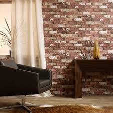 Red Wallpaper Designs For Living Room Red Brick Hemingway Wallpaper Designer Brick Wall Wallpaper