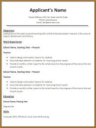 Teacher Resume Format In Word Free Download Resume