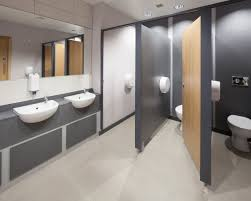 commercial bathroom and toilets sinks and cubical ideas office wc featuring light floor
