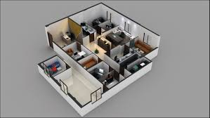 3d office floor plan. Unique Office 3d Commercial Office Floor Plan Design Throughout
