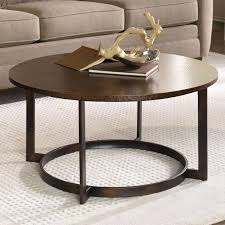 hammered copper round coffee table