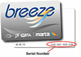The card automatically debits the cost of the passenger's ride when placed on or near the breeze target at the fare gate. Breeze Card Information System