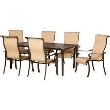 hanover manor aluminum piece round patio dining set patio dining chairs patio dining chairs