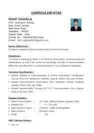 Indian Resume Format For Mechanical Engineers Professional Resume