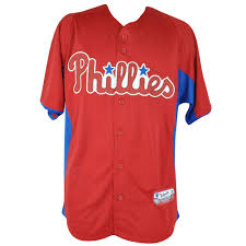 Majestic Baseball Jersey Size Chart Details About Mlb Majestic Philadelphia Phillies Cool Base Batting Practice Baseball Jersey