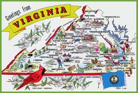 maps update  virginia travel map – pictorial travel map