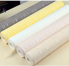 Get Quotations  Striped Wallpaper for Walls Modern Mural roll pink color  flock printing contact paper papel de parede
