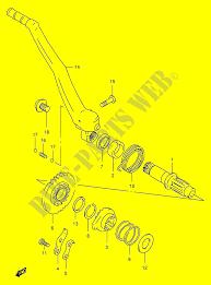 kick starter engine transmission rm250 y e03e28e33 2000 rm 250 moto