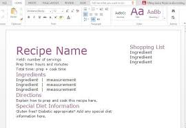 Recipe Template Word Word Templates Recipes Magdalene Project Org
