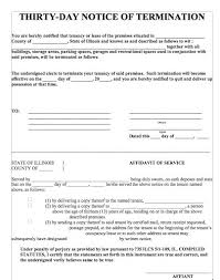 30 day termination letters 45 eviction notice templates lease termination letters