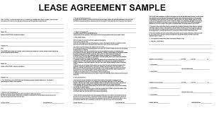 Lease Agreement Example Lease Contract Sample Petitingoutpolyco 2
