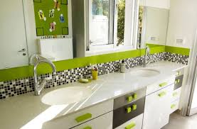 bathroom designs for kids. View In Gallery Contemporary Kids Bathroom With Fresh Green Hues And An Airy Appeal Designs For K