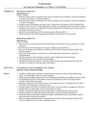 Research Resume Sample Research Assistant Resume Samples Velvet Jobs 22