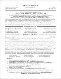 Resume Samples For Sales Manager General Manager Resume Sample Page