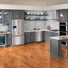 Cabinet For Kitchen Appliances White Kitchen Cabinets With Slate Appliances 22555520170516