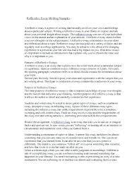 Personal Reflective Essays Examples Reflective Essay Format Example Kliqplan Com