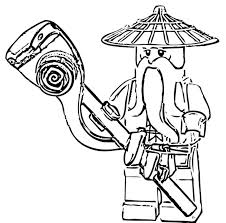 Lego Ninjago Sensei Wu Coloring Pages