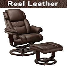 amazing leather swivel recliner armchair chair and footstool set fresh at exterior model stunning real chairs with foot stool