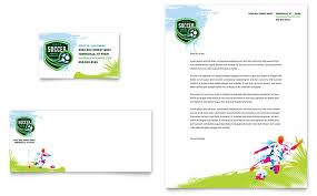 Soccer Business Card Youth Soccer Business Card Letterhead Template Design
