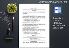 Resume Template Cover Letter Template References Template