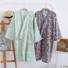 Kimono Robe Pattern Custom Spring Summer Cotton Gauze Women Robes Kimono Robe Plum Pattern