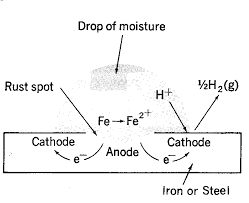 examination of the equation shows that three factors influence the formation of corrosion these are the concentration of oxygen the acidity