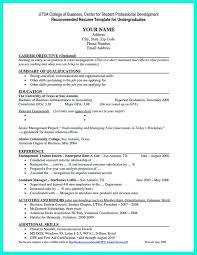 Undergraduate Resume Template Stunning 24 Unique Undergraduate Resume Sample For Internship Template Free