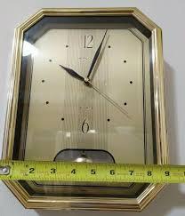 heirloom quartz wall clock gold for