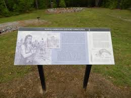 One Of The Interpretive Signs Picture Of Fort Christanna