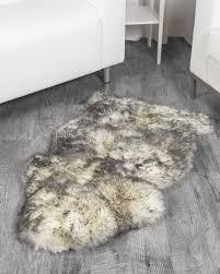 1 pelt twilight sheep fur rug single
