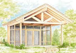 Search Project Plans   Southern Living House PlansHalf Screened Picnic Shelter   Sets
