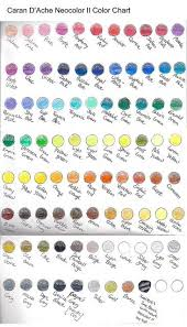 Caran Dache Neocolor Ii Color Chart In 2019 Watercolor