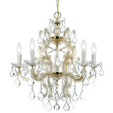maria 6 light crystal gold chandelier theresa instructions