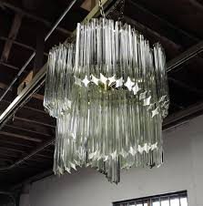venini murano mid century quatro punta glass prism chandelier for intended for incredible property glass prism chandelier plan